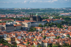 View of the Prague Castle and St. Vitus Cathedral from the Vltava River, Prague, Czech Republic. Stock Image