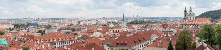 View from Prague Castle. Over the rooftops of the city royalty free stock photography