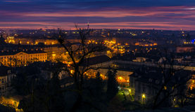 View of the Prague. View of the center of Prague at night Stock Image