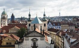 View of Prague city center from the height.  Stock Photography