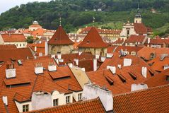 View of Prague city from hill Royalty Free Stock Photography