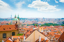 View of Prague city from hill Royalty Free Stock Images