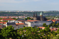 View of Prague city from Petrin Royalty Free Stock Photography
