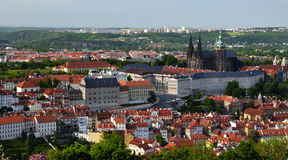 View of Prague city from Petrin Stock Image