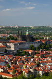 View of Prague city from Petrin Royalty Free Stock Images