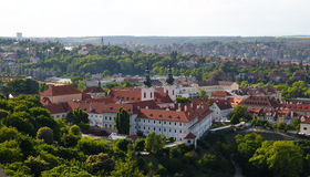 View of Prague city from Petrin Royalty Free Stock Photo