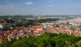 View of Prague city from Petrin Royalty Free Stock Photos