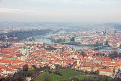 View of prague city from petrin hill Royalty Free Stock Photos
