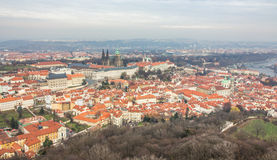 View of prague city from petrin hill Royalty Free Stock Images