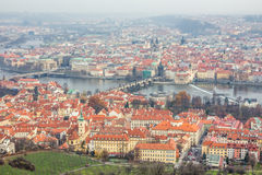 View of prague city from petrin hill Stock Images