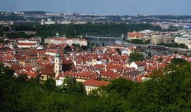 View of Prague city from Petrin Stock Photo