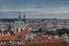 View on Prague royalty free stock photo