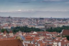 View on Prague stock photography