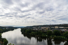 View of Prague city from Vysehrad hill Stock Image