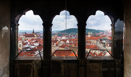 View of prague from the clock tower Royalty Free Stock Photos