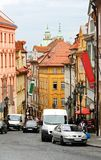 Street of Prague. A view of Prague, Czech Republic. Bright houses, street view Stock Image