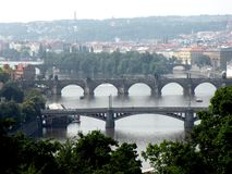 View of Prague. Prague, an exceptional tourist destination. Beautiful buildings and monuments in the city center. Old Town with the city and houses sec. XIX stock photography