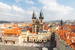 View of Prague from a height. Royalty Free Stock Image
