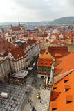 View of Prague from a height. Royalty Free Stock Photography