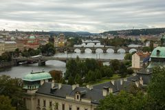 View of Prague From Letna Park royalty free stock image