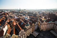 View of Prague like a point of turistic destinations Stock Images