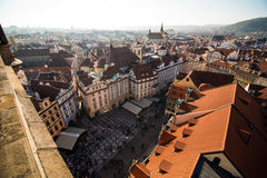 View of Prague like a point of turistic destinations Stock Photos