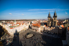 View of Prague like a point of turistic destinations Stock Photo