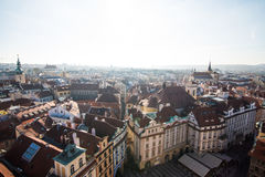 View of Prague like a point of turistic destinations Royalty Free Stock Photos