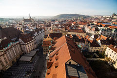 View of Prague like a point of turistic destinations Stock Photography