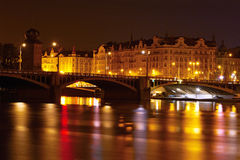 View of Prague at night Stock Photos