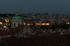 View on Prague at night royalty free stock photos