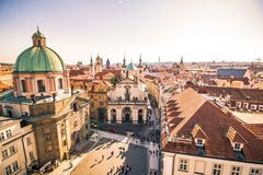 View on Prague from the old town bridge tower Royalty Free Stock Images