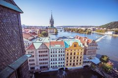 View on Prague from the old town bridge tower Royalty Free Stock Photos