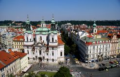 View of Prague from Old Town Hall Tower Stock Photography