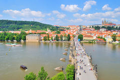 View of Prague from  the Old Town Tower Royalty Free Stock Photo