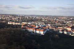 View of Prague from Petrin hill Royalty Free Stock Image