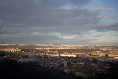 View of Prague from Petrin hill Stock Image