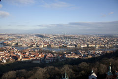 View of Prague from Petrin hill Royalty Free Stock Images
