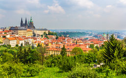 View of Prague from Petrin Hill Stock Photos