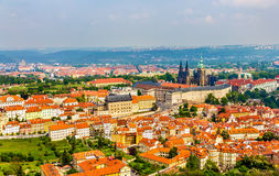 View of Prague from Petrin Hill Stock Photo