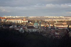View of Prague from Petrin Hill Royalty Free Stock Photo