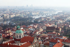 View of Prague from the Prague Castle on a day Royalty Free Stock Photography