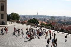 View of Prague from the Prague Castle Royalty Free Stock Images