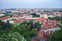 View of Prague from Prague Castle. Panorama of Prague. royalty free stock images