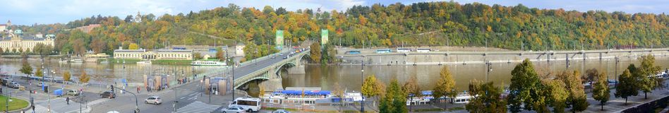 View of the Prague River Vltava Stock Image