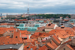 View on Prague`s roof Royalty Free Stock Photography