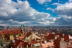 View of Prague's roofs Stock Photo