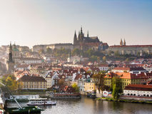 View on Prague and Saint Vitus Cathedral Royalty Free Stock Photography