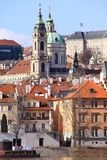 The View on Prague St. Nicholas' Cathedral Royalty Free Stock Photo