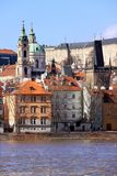 The View on Prague St. Nicholas' Cathedral Stock Photos